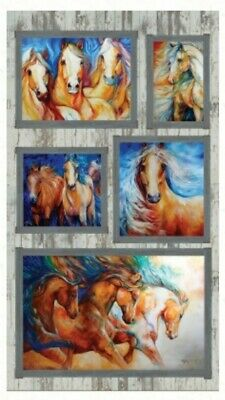 Born To Run Horses Quilt Panel * Gorgeous *  Free Post * 🐎