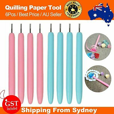 6Pcs Slotted Paper Quilling Tool Pen Winder Roll DIY Origami Craft Handmade Kit