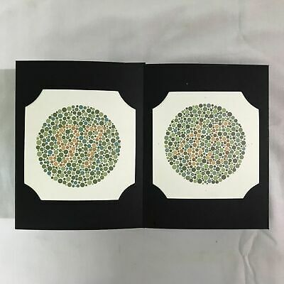 Set of 3 Ishihara Colour Vision Test Book 14, 24, 38 Plates Ophthalmology