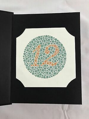 Ishihara Color Blindness Test Book available in 38 plates Made with good quality