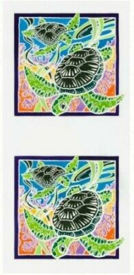 Sea Turtles Quilt Panel * Batik Painted Panel *   New * Free Post *