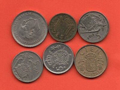 Pesetas Spain Spanish Coins