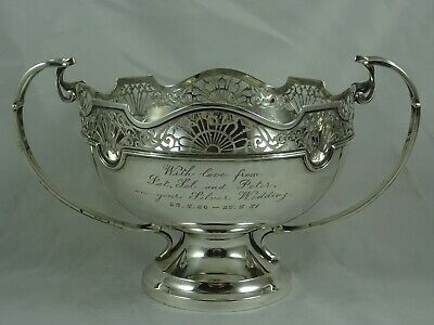 SUPERB, solid  silver ROSE BOWL, 1938, 749gm