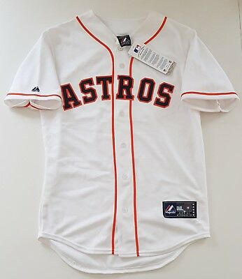 MAJESTIC HOUSTON ASTROS Official MLB Baseball Jersey Shirt Authentic Men's S