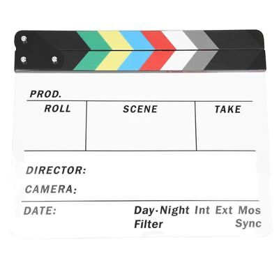 Generic Acrylic Colorful Clapperboard TV Film Movie Slate Cut Role Play Pr V5W8)