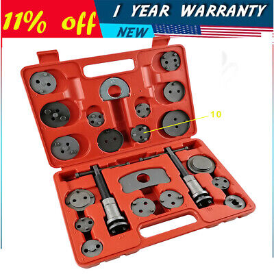 22pc Heavy Duty Disc Brake Caliper Tool Set and Wind Back Hand Kit for Brake Pad