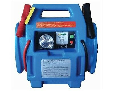 Ex Demo 12V 600A Portable Air Compressor Jump Starter Battery Booster Leads