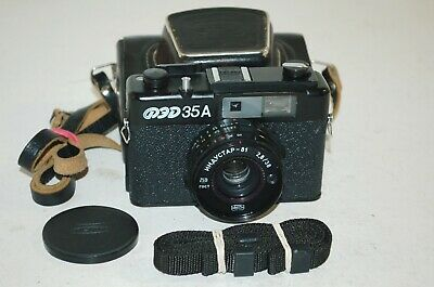 Fed-35A Vintage 1987 Soviet Rangefinder Camera & Case. Serviced. 761421. UK Sale