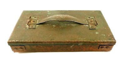 RARE Antique 1900 - 1920 Arts & Crafts Handmade Hammered Copper Lidded BOX