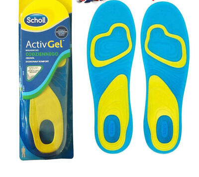 SCHOLL Gel Activ Everyday Shock Absorption Insoles For Men