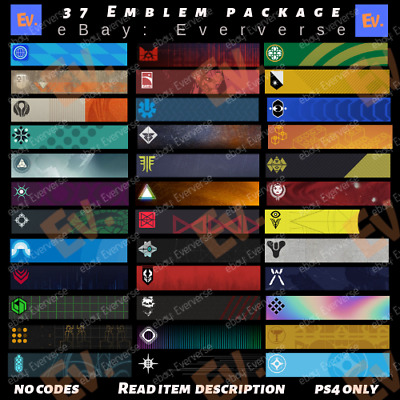 Destiny 2 Emblem Of Synth, Darkest Day, Together We Rise+ | NO CODE (PS4 ONLY)