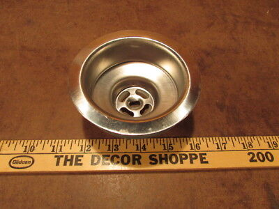 antique Sink basket strainer Kitchen Drain NOS metal bathroom vintage washroom