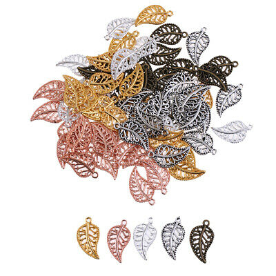 Prettyia Leaves Filigree DIY Accessories Metal Crafts Connector For Jewelry