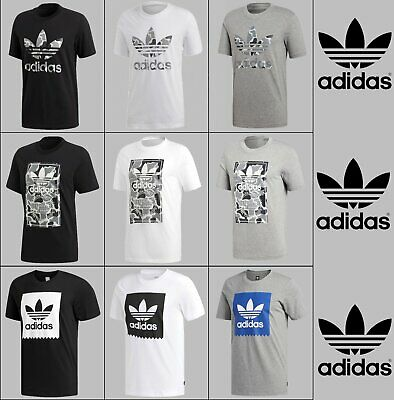Adidas Originals Men's CAMO Design Tees Trefoil Logo Crew Neck Tshirts  S M L XL