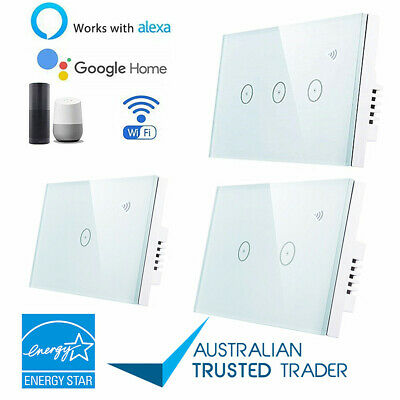 Smart Home WiFi Switch Wall Touch Light Lamp Panel APP Control for Alexa Google#