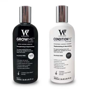 Watermans Grow Me Shampoo 250ml & Conditioner 250ml