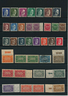 Germany, Deutsches Reich, Nazi, liquidation collection, stamps, Lot,used (EG 31)