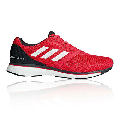 adidas Mens Adizero Adios 4 Running Shoes Trainers Sneakers Red Sports