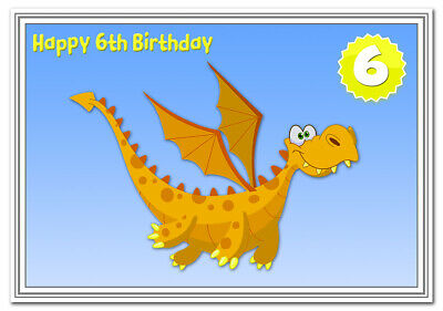 6th Birthday Cards For Boys 6 Year Old Boy