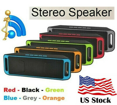 Portable Wireless Bluetooth Speaker Rechargeable Cylinder Waterproof Stereo T125