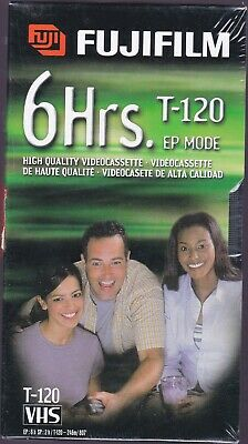 FUJIFILM T-120 VHS Blank Video Cassette--LOT of 4--BRAND NEW--FREE SHIPPING