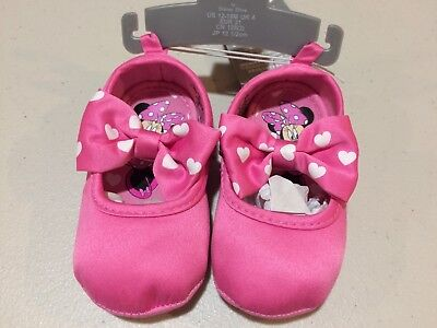 Disney Store Minnie Mouse Black Baby Costume Shoes Baby 0 6 12 Months NWT