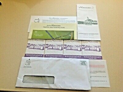 4 Masters Tickets - Wednesday April 10, 2019 - Practice Round & Par 3 Tournament