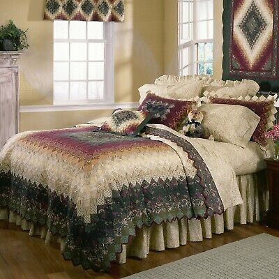 Farmhouse Country Rustic Primitive Spice Trip Quilted Bedding Collection