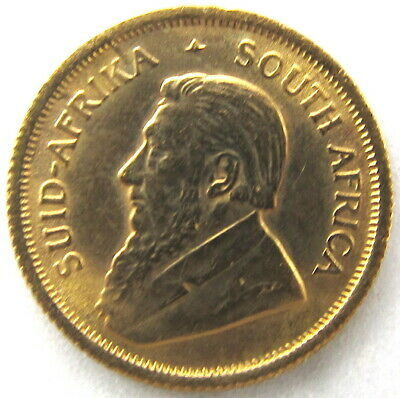 1982 ~ 1/10 oz. ~ South African Krugerrand Gold Coin
