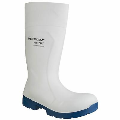 Dunlop Food Pro White Safety Wellingtons PU S4