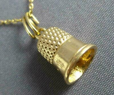 Estate 14Kt Yellow Gold 3D Classic Handcrafted Bell Charm Pendant #25062
