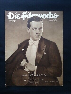1.WK Die Filmwoche 1929 Ivan Petrovich UFA Palast Revue Berlin cinema Movie WW1