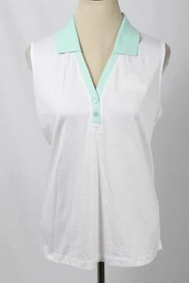"EP Pro Size XL White & Mint ""The Westin Mission Hills"" Golf Polo Tank 3002 T617"