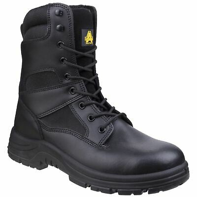 Amblers Safety COMBAT Black Mens Occupational Footwear Leather/Mesh O2