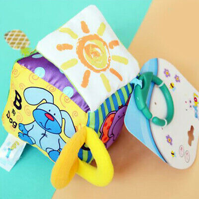 Multifunctional Cognitive Letter Baby Play Plush Cloth Building Blocks Rattles Z