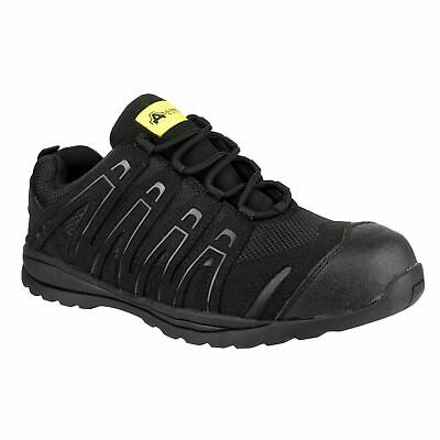 Amblers Safety FS40C Black Trainers Safety Micro-Fibre S1