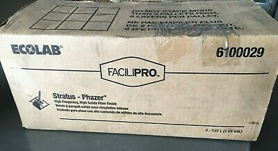 ECOLAB 6100029 FACILIPRO Phazer High Frequency, High Solids Floor Finish, 2/2gl