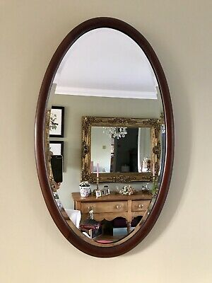 Antique wooden Wall Hanging Mirror - Great Vintage Condition