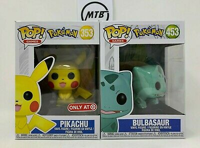 FUNKO POP POKEMON BULBASAUR 453 PIKACHU 353 TARGET EXCLUSIVE lucky day rainy