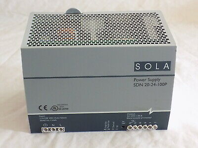 SOLA SDN 10-24-100P POWER SUPPLY 115/230v 24vDC 10A / FREE SHIPPING!!!