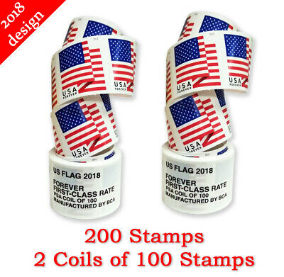 USPS STAMPS - First Class Postage - USA Forever 2018 US Flag - Cheap!