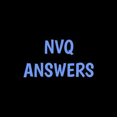 Children and young people workforce level 3 NVQ ANSWERS