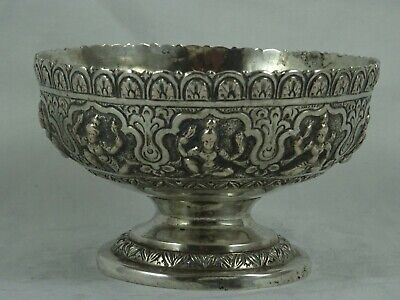 INDIAN silver SWEET BOWL, c1890, 137gm