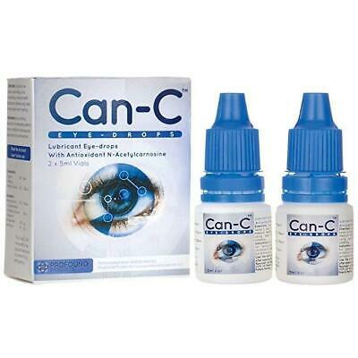SALE Can-C Lubricant Eye Drops N-Acetylcarnosine 2x 5 ml Vials Can C Exp 06/2020