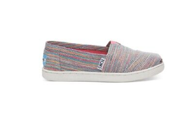 593f72068d9 Toms Classic Slip On Shoes Tiny Size 11 Blue Aster Multi Space Dye Color  Stripes