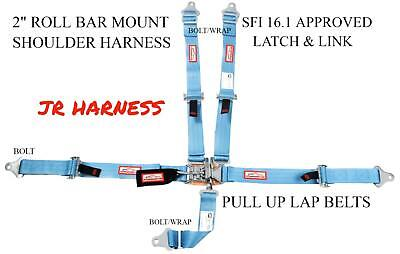 Junior Dragster Safety Harness Sfi 16.1 Latch & Link 5 Point Powder Blue