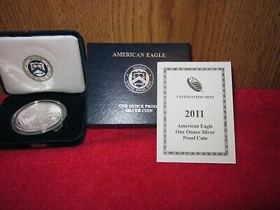 2011-W United States American Silver Eagle Proof  1$ w/ Box & COA