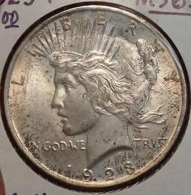 1923 Peace Dollar, Gem Uncirculated, Very Pretty Original Gem BU Coin  0731-23