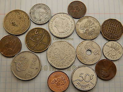 Coins Home Lot 15 Circulated 1956+ different World set#5S3 Uncertified Ungraded