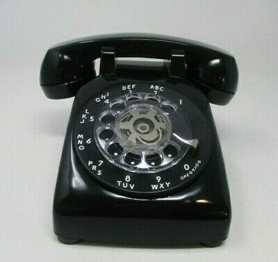 Vintage Bell Systems by Western Electric Black Rotary Telephone